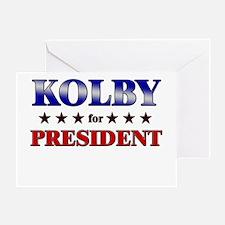 KOLBY for president Greeting Card