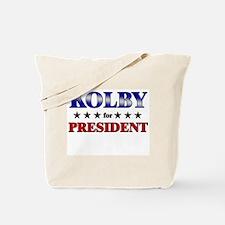 KOLBY for president Tote Bag