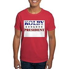KOLBY for president T-Shirt