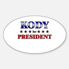 KODY for president Oval Decal