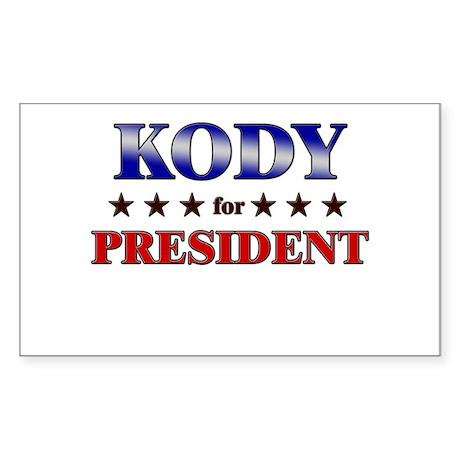 KODY for president Rectangle Sticker