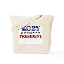 KOBY for president Tote Bag