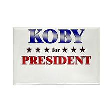 KOBY for president Rectangle Magnet (10 pack)