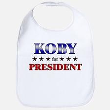 KOBY for president Bib