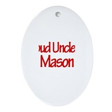 Proud Uncle of Mason Oval Ornament