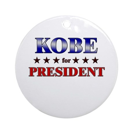 KOBE for president Ornament (Round)