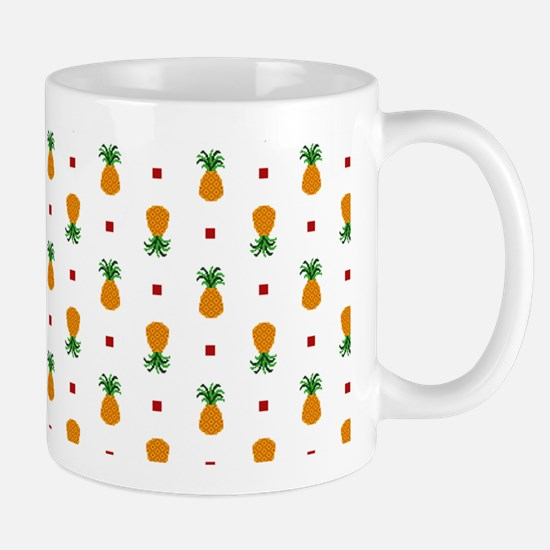 Pixel Art Pineapple Pattern Mugs