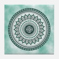 Celtic Knot No. 1 Turquoise Tile Coaster