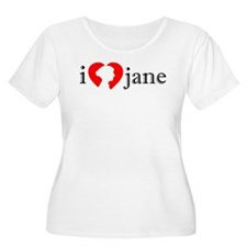 I Love Jane Silhouette T-Shirt
