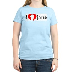 I Love Jane Silhouette Women's Light T-Shirt