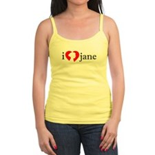 I Love Jane Silhouette Ladies Top