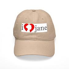 I Love Jane Silhouette Baseball Cap