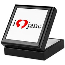 I Love Jane Silhouette Keepsake Box