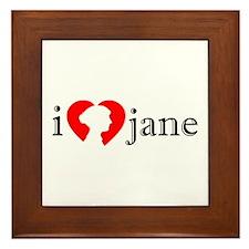 I Love Jane Silhouette Framed Tile