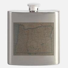 Cute Oregon love Flask