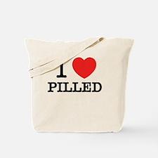 Unique I love pills Tote Bag