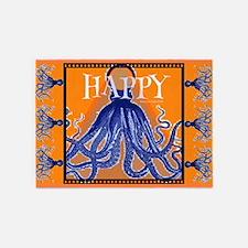 Too Happy Octopus 5'x7'area Rug