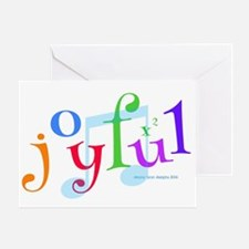 Joyful X 2 Greeting Cards