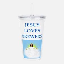 jesus loves Acrylic Double-wall Tumbler