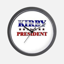 KIRBY for president Wall Clock