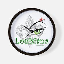 See Louisiana Wall Clock