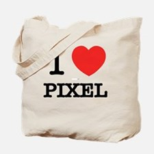 Cute I love pixel Tote Bag