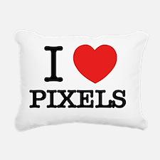 Cute I love pixel Rectangular Canvas Pillow