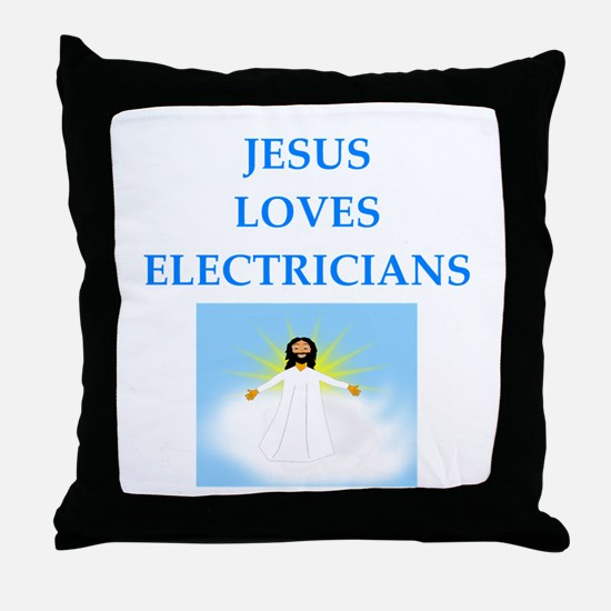 electrician Throw Pillow