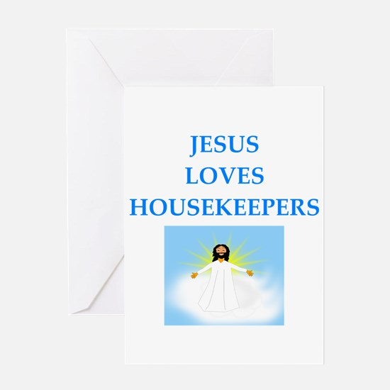 housekeeper Greeting Cards