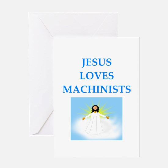 machinist Greeting Cards