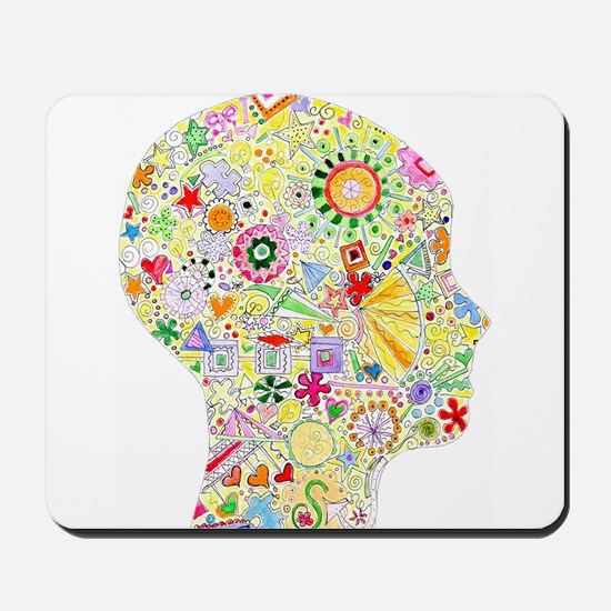 Right Brain in Motion Mousepad