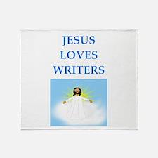 jesus loves Throw Blanket
