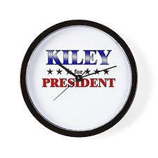 KILEY for president Wall Clock