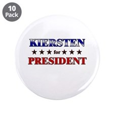 "KIERSTEN for president 3.5"" Button (10 pack)"