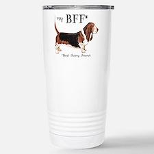 Basset BFF Stainless Steel Travel Mug