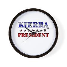 KIERRA for president Wall Clock