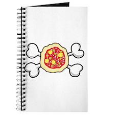 Funny Pizza & Crossbones Design Journal