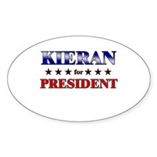 KIERAN for president Oval Decal