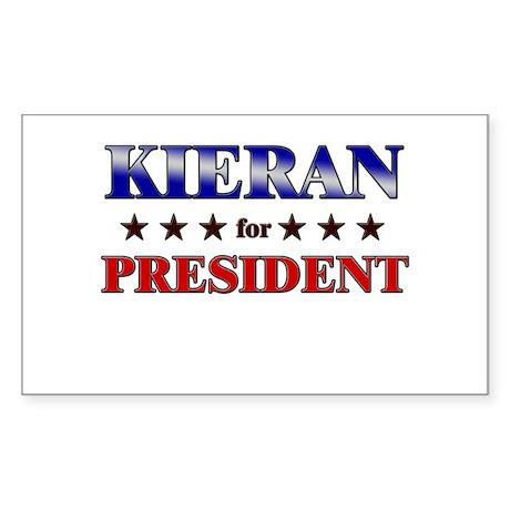 KIERAN for president Rectangle Sticker