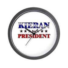 KIERAN for president Wall Clock