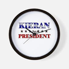 KIERAN for president Wall Clock