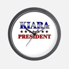 KIARA for president Wall Clock