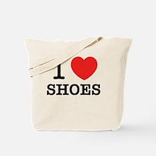 Cute I love shoes Tote Bag