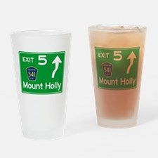 NJTP Logo-free Exit 5 Mount Holly Drinking Glass