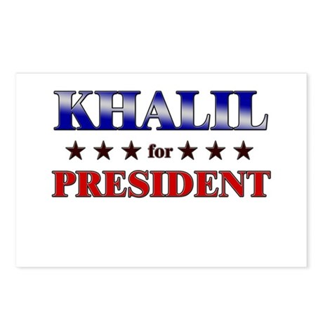 KHALIL for president Postcards (Package of 8)