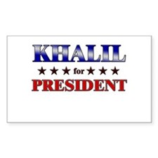 KHALIL for president Rectangle Decal