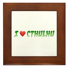 I Heart Cthulhu Framed Tile