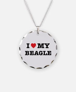 I Heart My Beagle Necklace