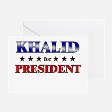 KHALID for president Greeting Card