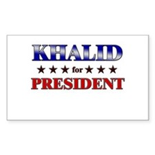 KHALID for president Rectangle Decal